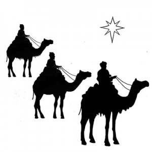 Lavinia Stamps Stempel LAV090 Three Kings and a Star
