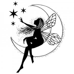Lavinia Stamps Stempel LAV041 Moon Fairy
