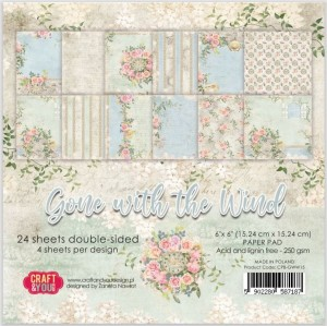PAPIER SCRAP C&Y 15,2*15,2 A'24ARK GONE WITH THE WIND