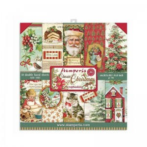 Papier scrap Stamperia 20,3*20,3 190g a'10 SBBS17 Classic Christmas