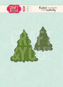 Wykrojnik CRAFT&YOU CW096 Christmas Trees / Choinki