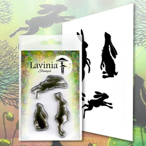 Lavinia Stamps Stempel LAV482 Whimsical Hares