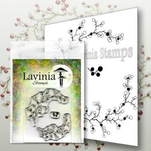 Lavinia Stamps Stempel LAV568 Berry Wreath