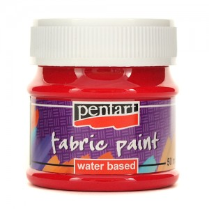 Farba do tkanin Pentart 50ml Fabric Paint Carmin