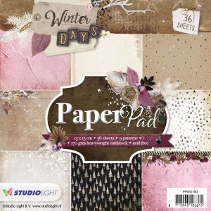 PAPIER SCRAP SL 15*15 170G A'36ARK PPWD100 Winter Days