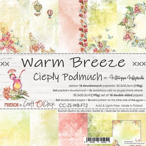 Papier scrap Craft O'Clock 20,3*20,3 Warm Breeze Zestaw