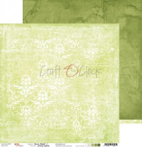 Papier scrap Craft O'Clock 30,5*30,5 BC01 Green Mood 01