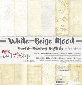Papier scrap Craft O'Clock 30,5*30,5 BC04 White-Beige Mood Zestaw