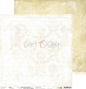 Papier scrap Craft O'Clock 30,5*30,5 BC04 White-Beige Mood 01