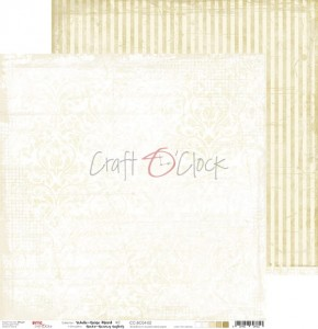 Papier scrap Craft O'Clock 30,5*30,5 BC04 White-Beige Mood 02