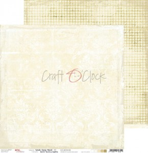 Papier scrap Craft O'Clock 30,5*30,5 BC04 White-Beige Mood 03