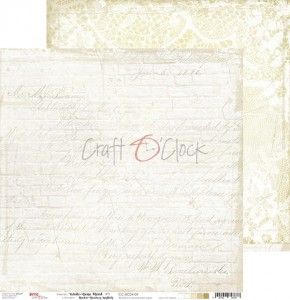 Papier scrap Craft O'Clock 30,5*30,5 BC04 White-Beige Mood 04
