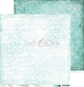 Papier scrap Craft O'Clock 30,5*30,5 BC05 Turquoise Mood 01
