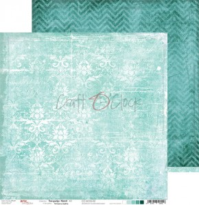 Papier scrap Craft O'Clock 30,5*30,5 BC05 Turquoise Mood 02