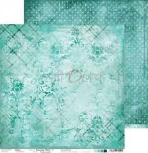 Papier scrap Craft O'Clock 30,5*30,5 BC05 Turquoise Mood 06