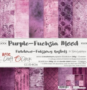 Papier scrap Craft O'Clock 30,5*30,5 BC06 Purple-Fuchsia Mood Zestaw