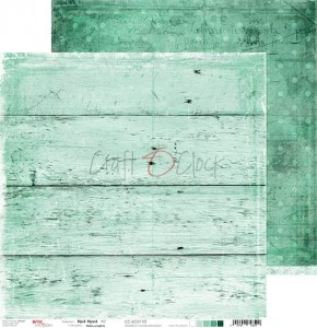 Papier scrap Craft O'Clock 30,5*30,5 BC07 Mint Mood 02
