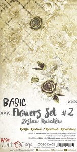 Papier scrap Craft O'Clock 15*30 BCKW02 Flowers #2
