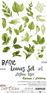 Papier scrap Craft O'Clock 15*30 BCL01 Leaves #1