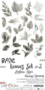 Papier scrap Craft O'Clock 15*30 BCL02 Leaves #2