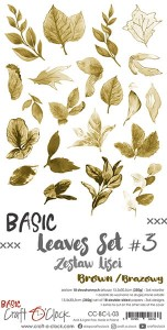 Papier scrap Craft O'Clock 15*30 BCL03 Leaves #3