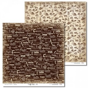PAPIER SCRAP LL 30,5*30,5 COFFEE TIME 05