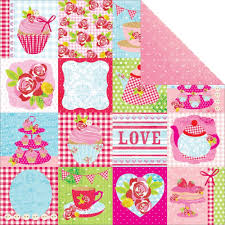PAPIER SCRAP KAISERCRAFT 30,5*30,5 TEA PARTY-P1186 Vanilla Cake