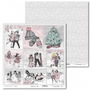 PAPIER SCRAP LL 30,5*30,5 SHABBY WINTER 06