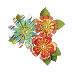 WYKROJNIK SIZZIX THINLITS 661097 MIX&MATCH FLOWERS