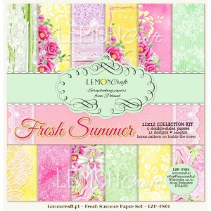 PAPIER SCRAP LemonCraft 30,5*30,5 FRESH SUMMER zestaw