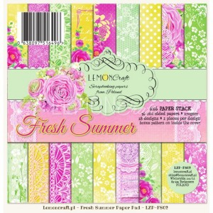 PAPIER SCRAP LemonCraft 15*15 FRESH SUMMER bloczek