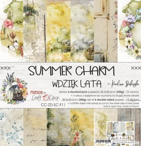 Papier scrap Craft O'Clock 30,5*30,5 Summer Charm Zestaw