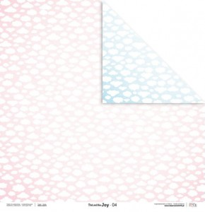PAPIER SCRAP LL 30,5*30,5 PINK AND BLUE JOY 04