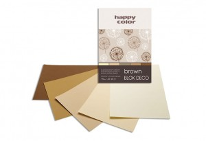 BLOK DECO HAPPY COLOR A4 170G 20K BROWN 5KOL