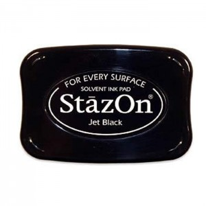 STAZON INK PAD JET BLACK SZ-31