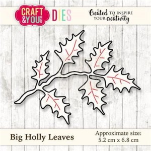 WYKROJNIK CRAFT&YOU CW030 BIG HOLLY LEAVES / GAŁĄZKA OSTROKRZEWU