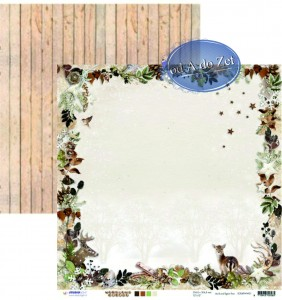PAPIER SCRAP SL 30,5*30,5 WOODLAND WINTER 01