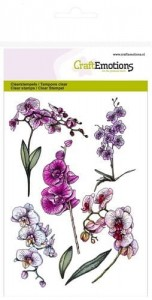 STEMPEL AKRYLOWY C.E. 130501/1243 Orchid branches