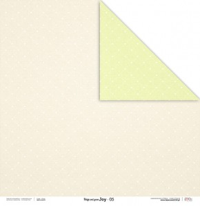 PAPIER SCRAP LL 30,5*30,5 BEIGE AND GREEN JOY 05