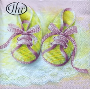 SERWETKA LUZ 25*25 IHR 71150 BABY SHOES