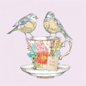 SERWETKA LUZ 33*33 PPD 1331916 TEA FOR TWO BIRDS