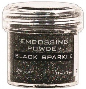Puder do embossingu RANGER Embossing Powder 34ml EPJ37460 BLACK SPARKLE