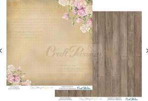 PAPIER SCRAP Craft Passion 30,5*30,5 COSY COTTAGE 03