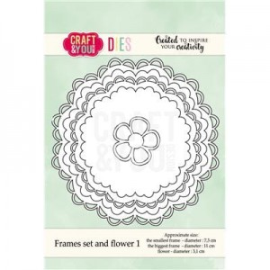 WYKROJNIK CRAFT&YOU CW041 FRAMES SET AND FLOWER 1 / SERWETKI 1