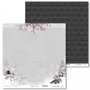 PAPIER SCRAP LL 30,5*30,5 SHABBY WINTER 01