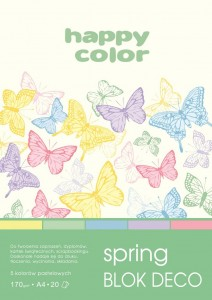 BLOK DECO HAPPY COLOR A4 170G 20K SPRING 5KOL