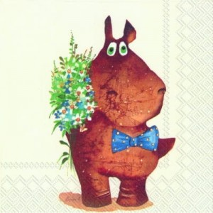 SERWETKA LUZ 33*33 IHR 569200 BEST WISHES