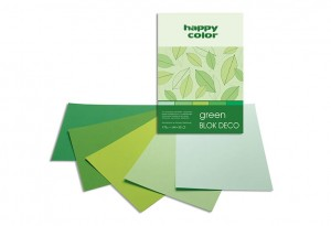 BLOK DECO HAPPY COLOR A4 170G 20K GREEN 5KOL