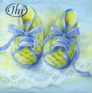 SERWETKA LUZ 25*25 IHR 71140 BABY SHOES