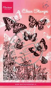 STEMPEL AKRYLOWY MARIANNE D. CS0926 Butterflies and flowers